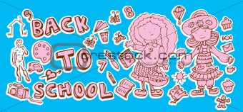 Back to school doodle Hand-Drawn BTS Sketchy Doodles school scra