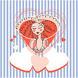 Girl Greeting card design
