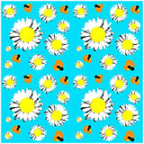 Seamless daisies wallpaper