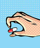 Hand with capsule pill 