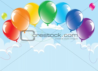colorful balloons in the sky