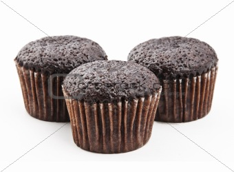 3 pieces of tiny brownies
