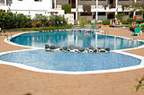 Swimming pool in hotel resort