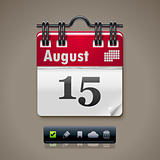 Vector calendar XXL icon