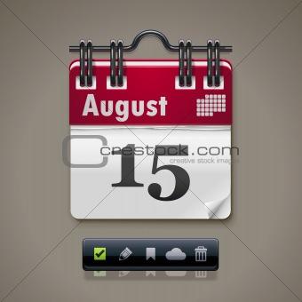 Vector calendar XXL icon