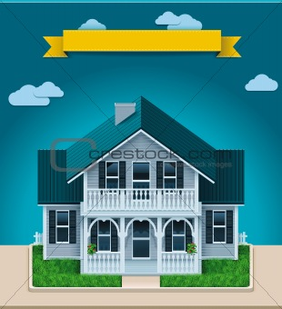 Vector cottage XXL icon