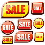 Red and Yellow Sale buttons