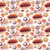 Sea Shell Seamless Background Pattern
