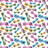 Seamless Background of Childrens Sunglasses on White.