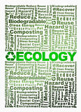 Recycle word cloud conceptual with Ecology word