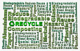 Recycle word cloud conceptual
