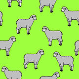 seamless wallpaper with sheep and rams