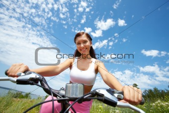 Pretty cyclist