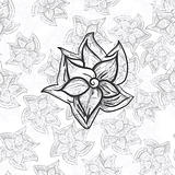 vector flower on seamless floral background