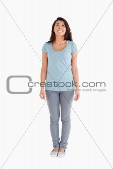 Good looking woman standing