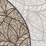 vector hand drawn background with floral elements