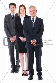 two businessman and one businesswoman