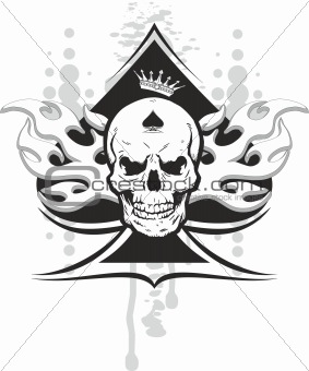 ace of spades skull