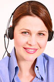 businesswoman with microphone