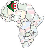 algeria on africa map