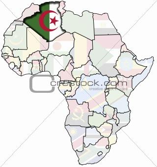 algeria on africa map