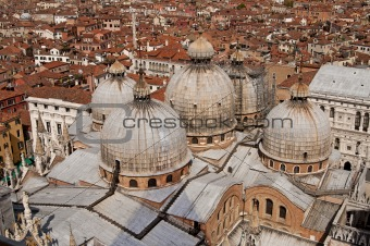 Aerial view of Venice city