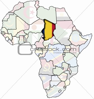 chad on africa map