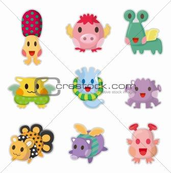 cartoon Monsters icons set