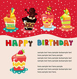 cartoon cake birthday card