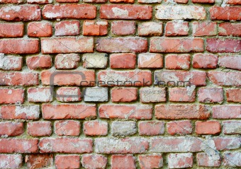 Brick wall - architectural background in retro style