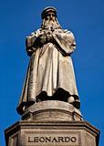 Milan - Italy: Leonardo Da Vinci statue