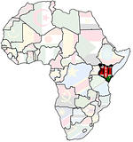 kenya on africa map