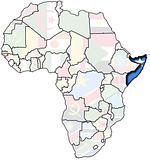 somalia on africa map