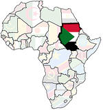 sudan on africa map