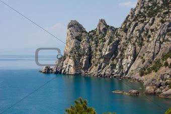 Crimean mountains and Black sea