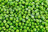 Heap of frozen peas