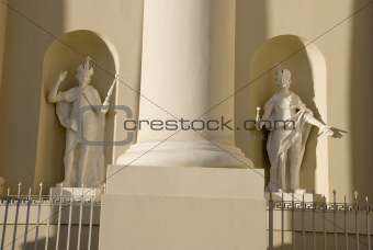 Cathedral saint statues.