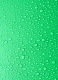 beautiful green water drops background