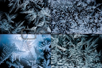 Set of ice crystals