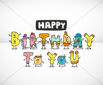 Image 4068315: cartoon Letters Birthday card from Crest
