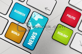 News Topics On The Keyboard Keys