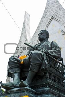 King Rama I Monument  of Thailand