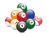 billiard balls pyramid