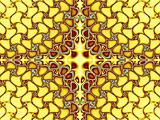 Yellow abstract fractal with gems