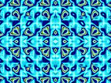 Blue pattern fractal - wallpaper