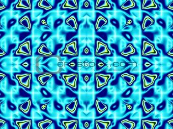 Blue pattern fractal - wallpaper
