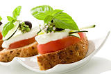 Caprese starter - Isolated