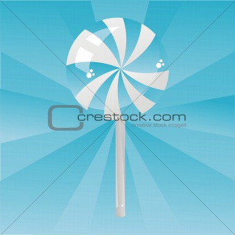 blue lollipop background