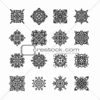 Black ornament collection