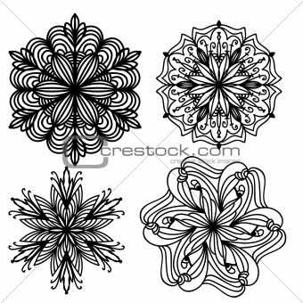 Black ornament collection